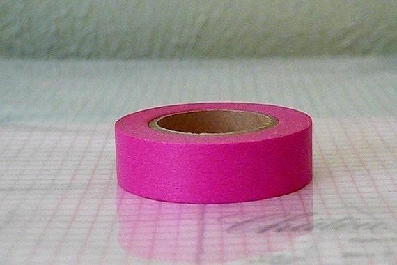 Darker Pink Japanese Washi Tape 15mm Single