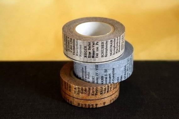 Japanese Masking Washi Tape Oldbook set of 3 - 20mm