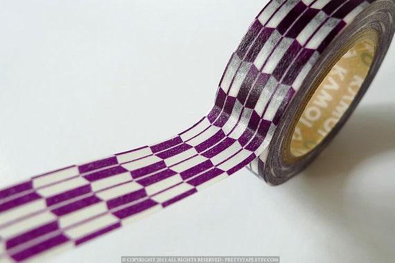 Japanese Washi Tape - Purple Traditional Arrow Pattern 15mm - PrettyTape
