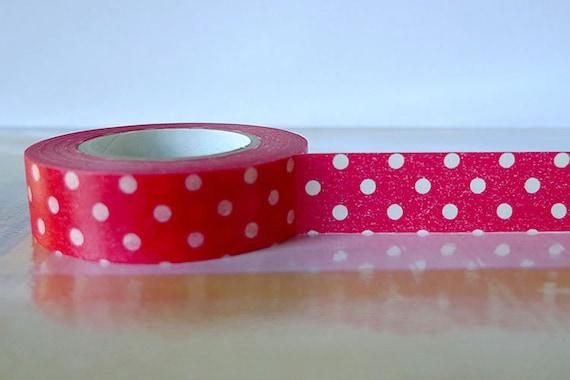 Red DOTS Washi Tape Japanese - Red Polka Dots