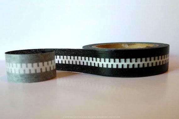 From Sweden Black Zipper Washi Tape (Chugoku) Paper Tape