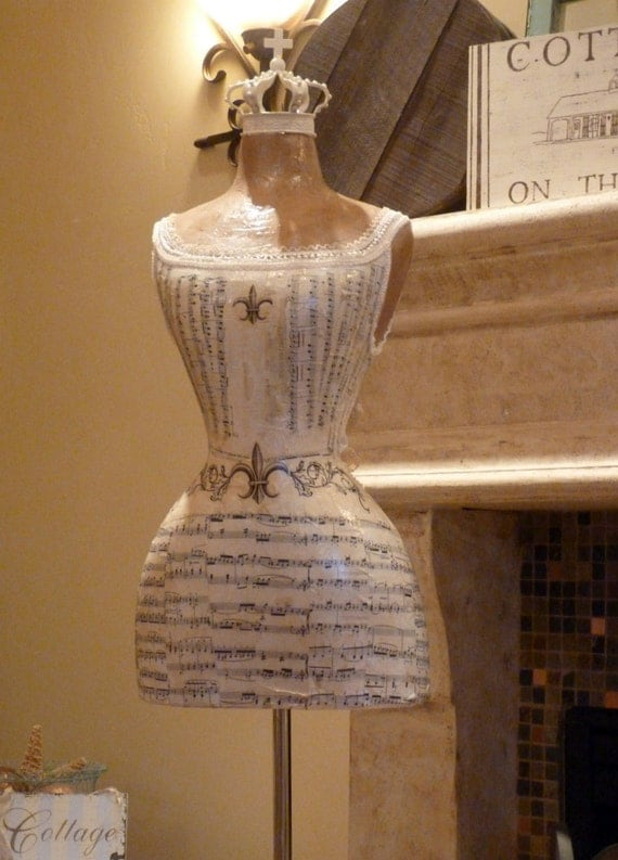 French Vintage Inspired Dress Form Mannequin Baby Girl Nursery