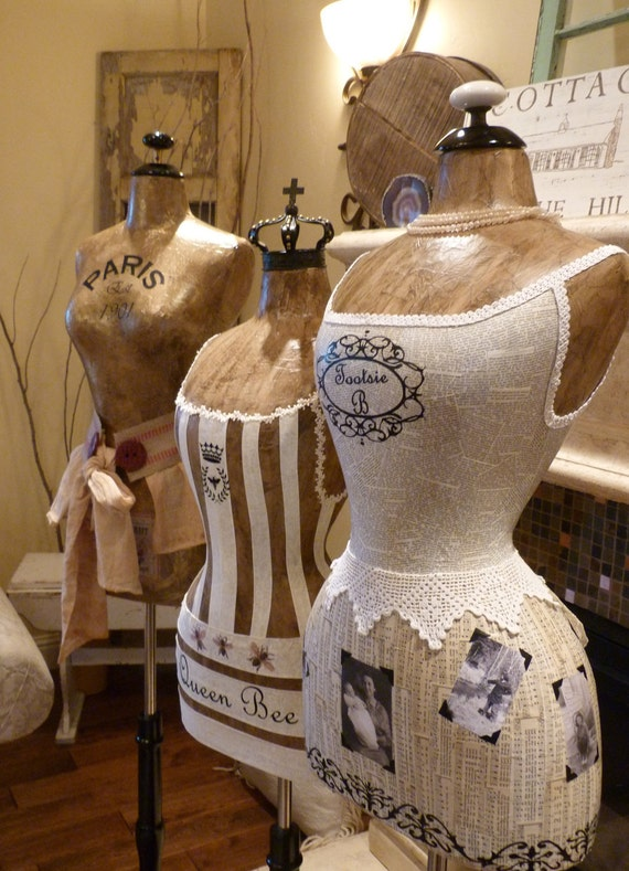 Custom Designed Dress Form Mannequin To Your Specifications Vintage Style Photogrpaphy Business Name  FREE SHIP & LAYAWAY
