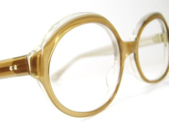 Vintage 60s Brown Eyeglasses Eyewear Frame France
