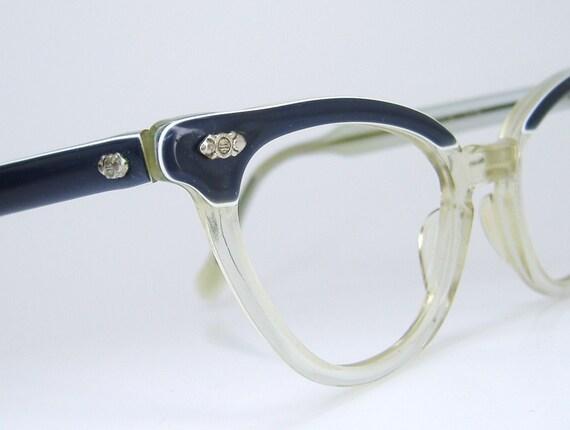Vintage Clear Cateye Eyeglasses Eyewear by ...