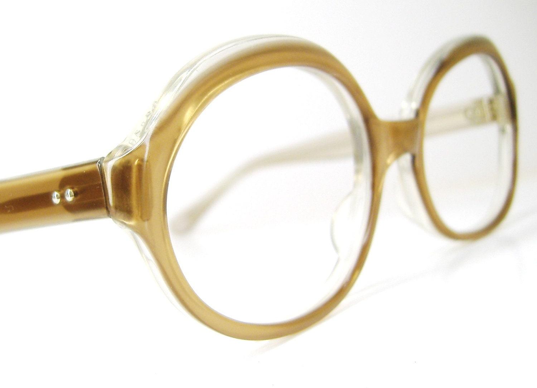 Vintage 60s Brown Eyeglasses Eyewear Frame France