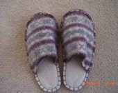 FOOT PUPPIES Recycled Felted Wool Slippers Womans size small (6-7) Mens size (5-6)