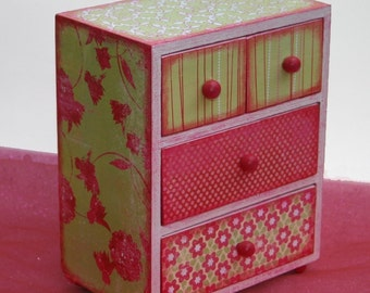 Girls Jewelry Box Strawberry Limeade Personalized Hot Pink & Lime Green