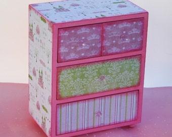 Girls Cinderella Jewelry Box Princess Pink Personalized