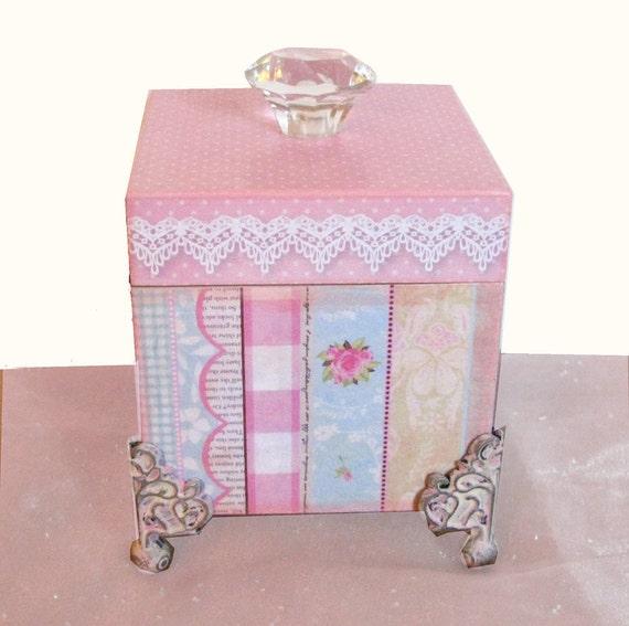 Jewelry Trinket Keepsake Shabby Chic Box Serenity Rose
