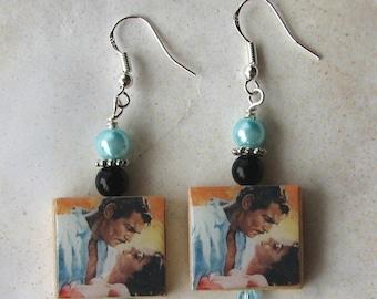 Gone with the Wind Rhett and Scarlett O'Hara Charm Earrings