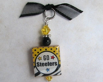 Pittsburgh Steelers Black and Gold Pendant