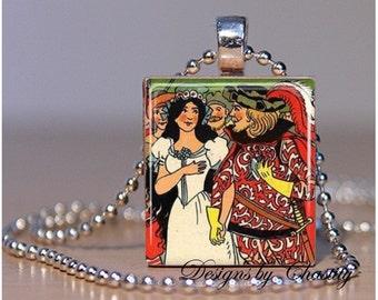 Snow White & Huntsman Scrabble Pendant Charm Necklace