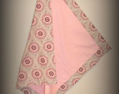 Classic Receiving Blanket - Grey & Pink Floral