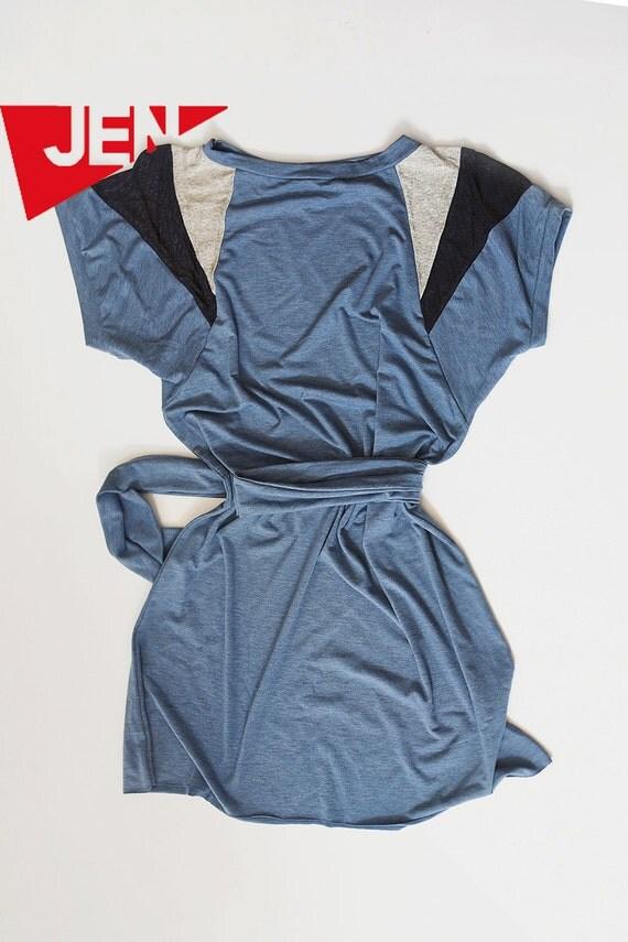 SALE Last one in the stock Shoulders dress in azure