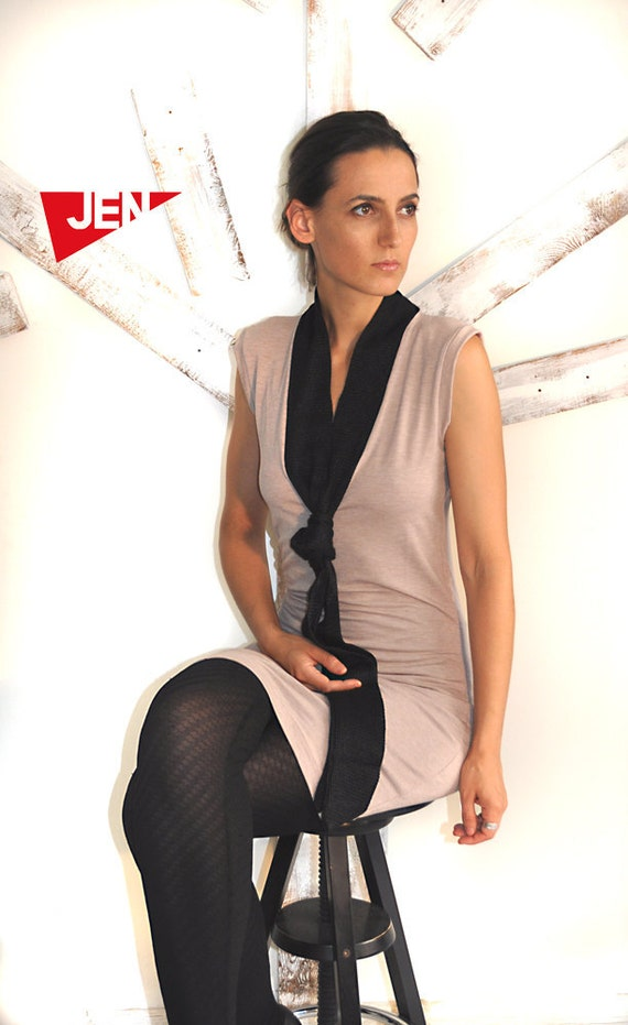 LAST SALE 50% off!!!! under 50,  little  beige  tie dress, mini dress