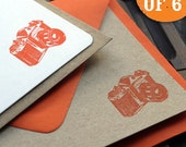 Vintage Camera Letterpress Flat Notes (set of 6)