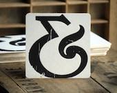 Letterpress Ampersand Coasters