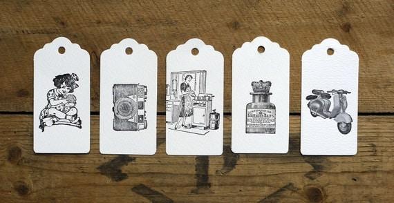 Letterpress vintage gift tags