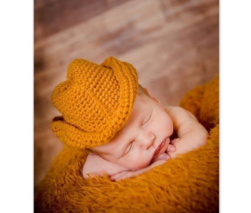 Crochet Cowboy Hat Pattern For Toddler : Items similar to Little Cowboy Hat Crochet Pattern / Baby ...