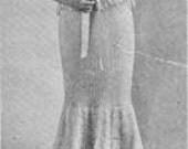 Crochet Pattern 1916 WOMENS FLOUNCE SKIRT