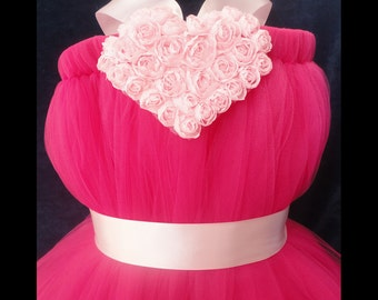 Sweet Heart Pink Flower Girl Dress Tutu