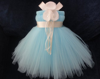 Flower Girl Dress, Little Girls Formal Dresses, Baby Blue Flower Girl Dress
