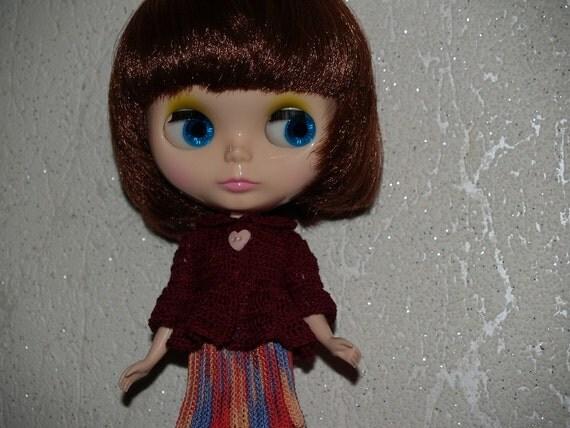 Crocheted shirt for Blythe