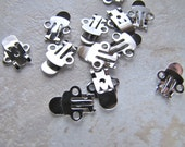 12 Shoe Clips Silver - Basic Style - 6 Pairs