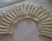 RESERVED FOR CAMILLA ... KNITTED COLLAR IN OFF WHITE (NO. 2) FOR YOU TO WEAR OR DECORATE