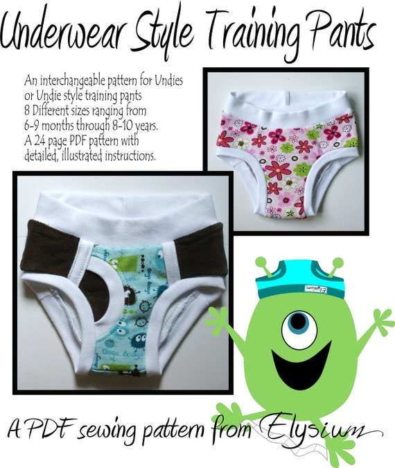 The Underwear Style Training Pants Pattern