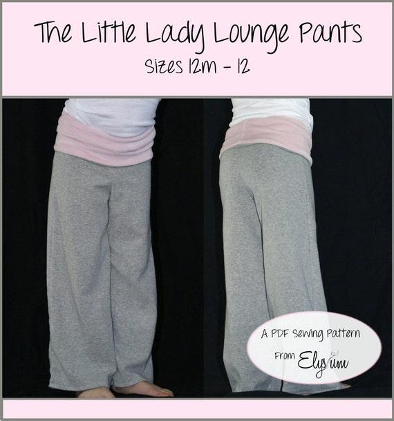 The Little Lady Lounge Pants Pattern