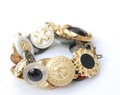 The Wedding Guest Lost and Found Funky Chunky Bling Button Bracelet