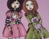 Sisters-Articulated Paper Doll-Do it yourself