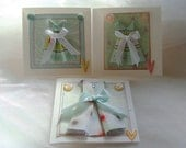 Origami Card Set of 3 Mini Paper Dress Gift Cards