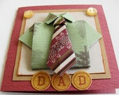 Dad, Mens Gift Card, Shirt and Tie Origami Gift Card  Mini Note Card Blank Card