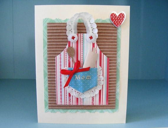 Apron Card Blank Paper Mom Mother