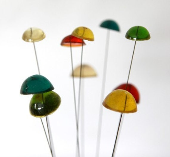 Vintage 1969 New Designs Inc Resin Art Mushroom Cap Chime Bouncy Things
