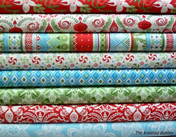 Summer Clearance SaLe NEW Flurry by Kate Spain 8 one yard cuts stack bundle by Moda