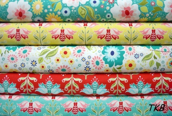 Apple of my eye Bundle of fat quarters The Quilted Fish for Riley Blake Design