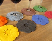 Pumpkin Slip-on Coasters - Set of 8