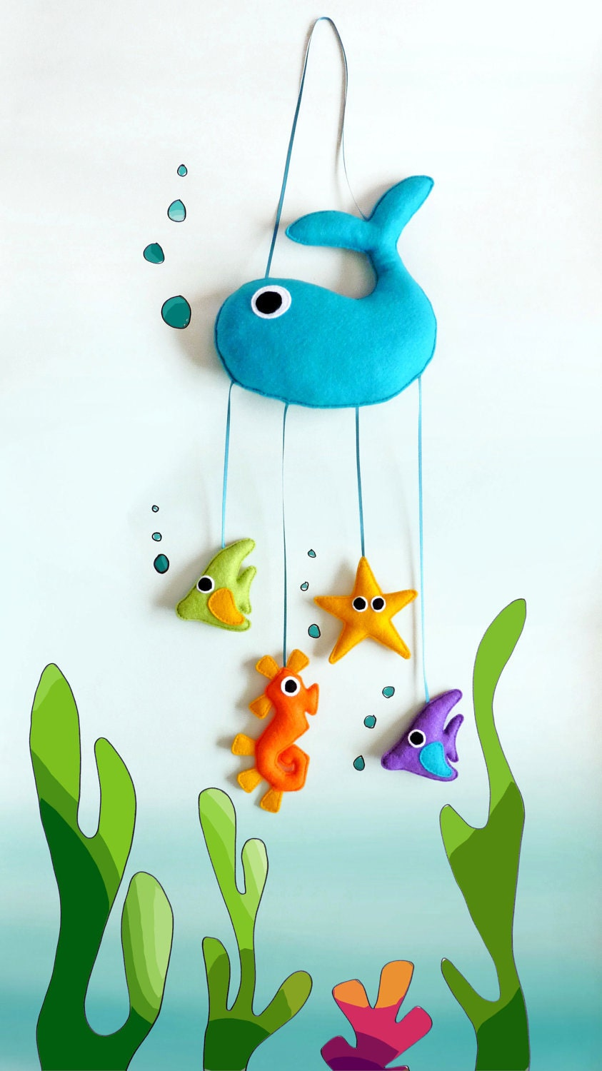 Under The Sea Felt Mobile Wall Hanging Babies Children