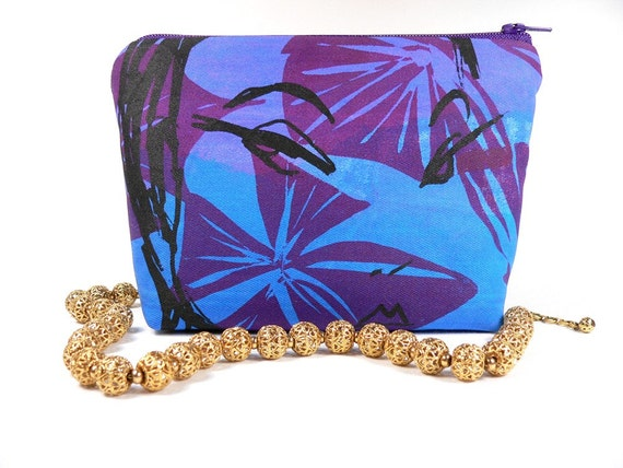 Reserved for Pam...One of a kind Blue and Purple EXOTIC FACE lil' fat bottom bag no.