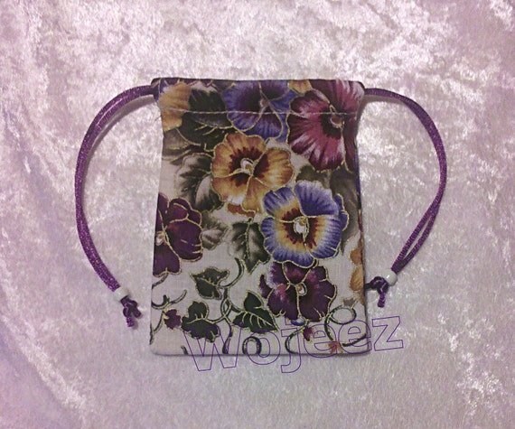 Small Lined Pansies Bag 3in x 4in