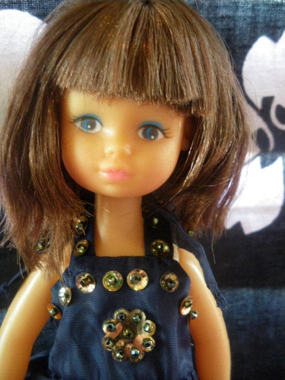 60s GINNY doll NAVY Party DRESS Hong Kong clone