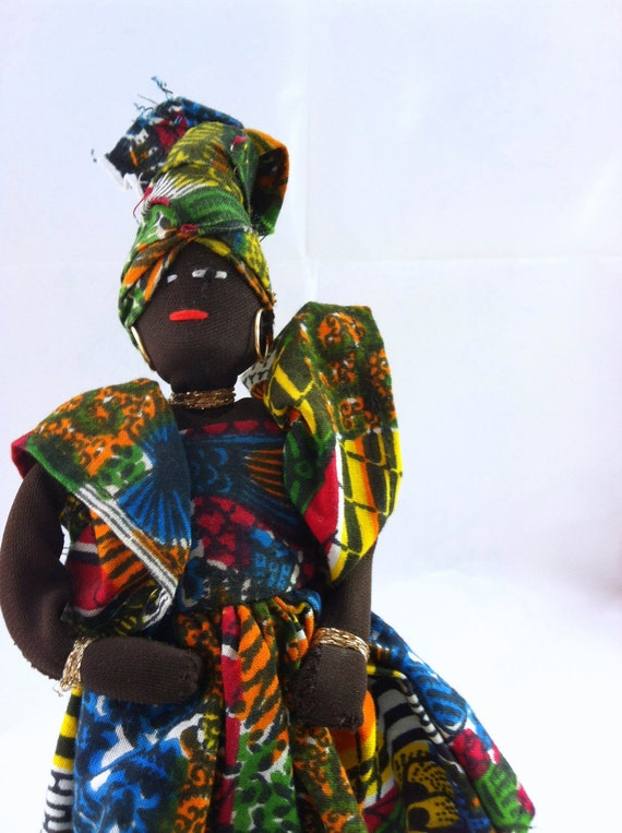 60s AFRICAN folk costume DOLL