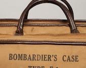 World War Two Bombardier's Case Type E-1 Satchel Bag Messenger Hand Held Map Grunge WWII WW2