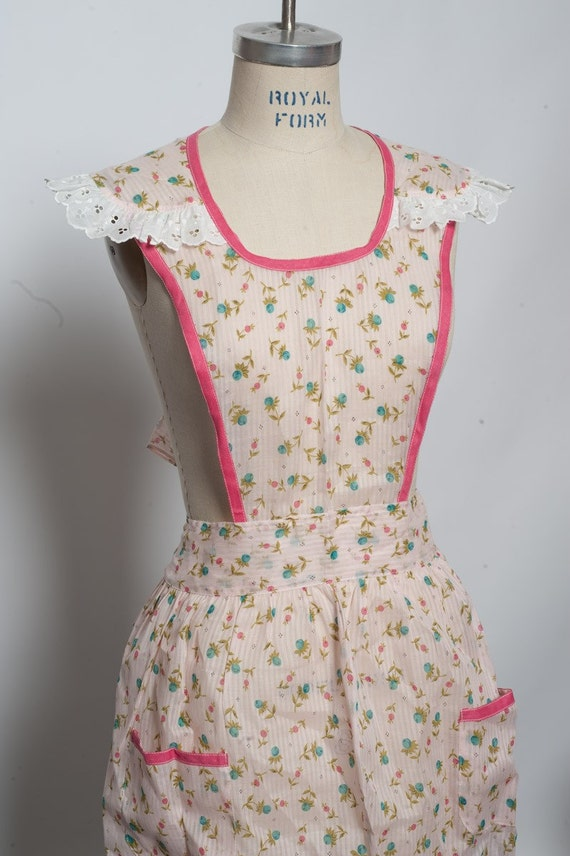 1950s Sheer Full apron NOS See through great for pinup rockabilly costume photography