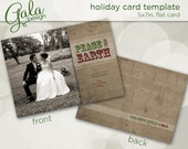 Peace On Earth Photo Greeting Card Template - For Photographers