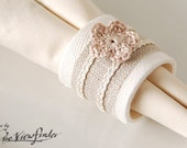 Linen and cotton Napkin rings